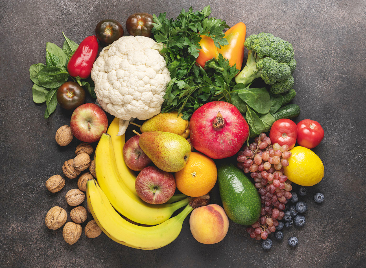 fruits and vegetables with chlorpyrifos