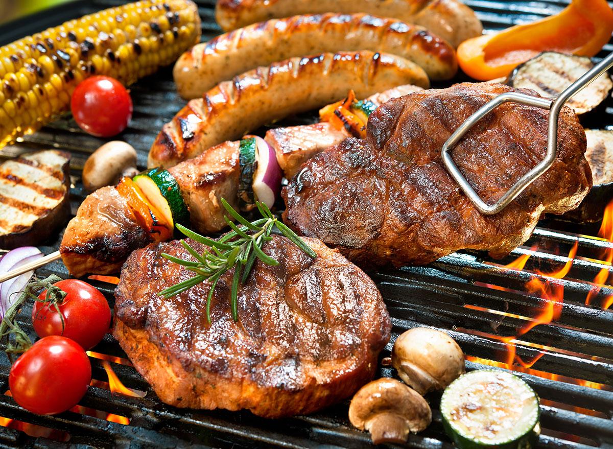 grilled meats vegetables