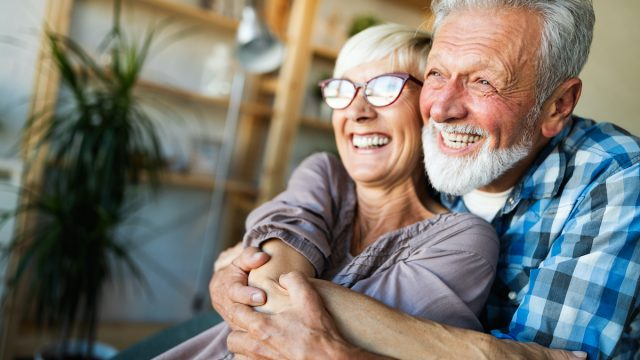 Elderly,Couple,In,Love.,Senior,Husband,And,Wife,Hugging,And