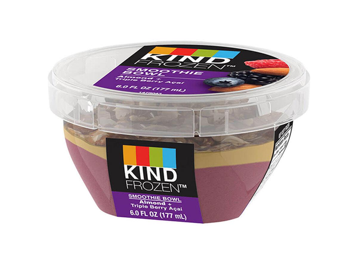 kind frozen smoothie bowl almond triple berry acai