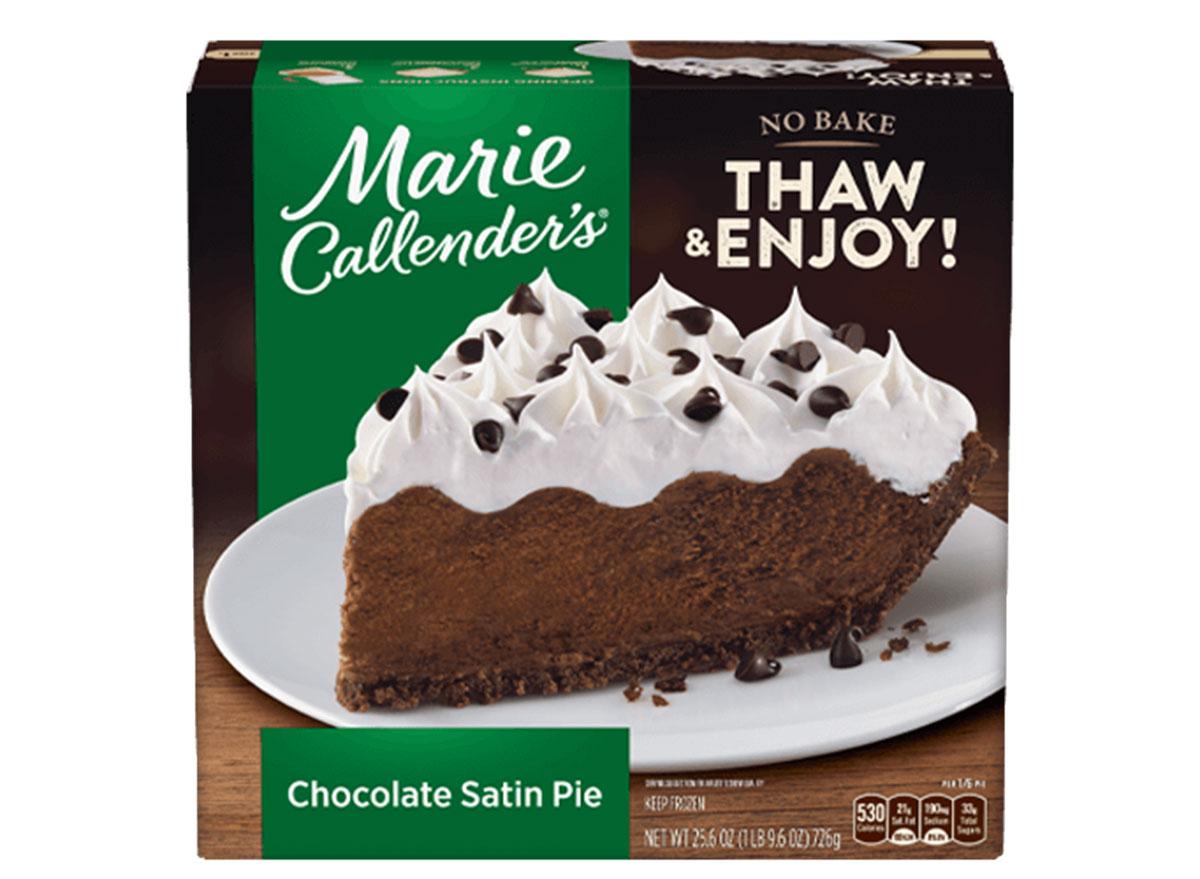 marie callenders chocolate satin pie