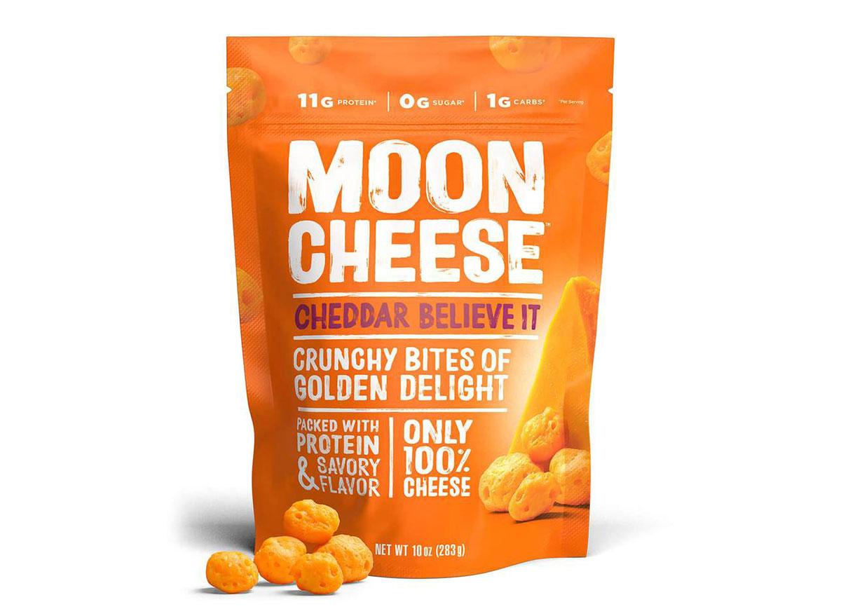 moon cheese cheddar bites