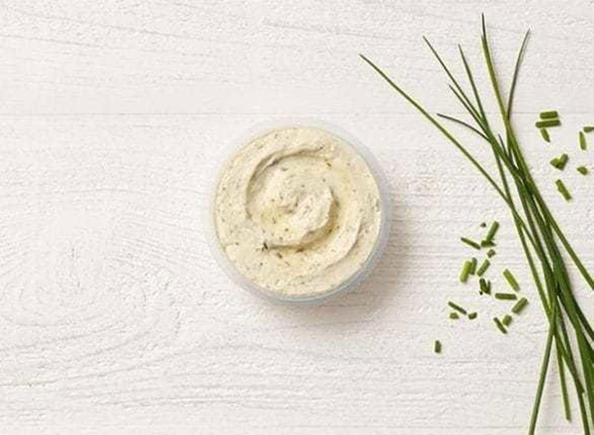 panera chive onion cream cheese