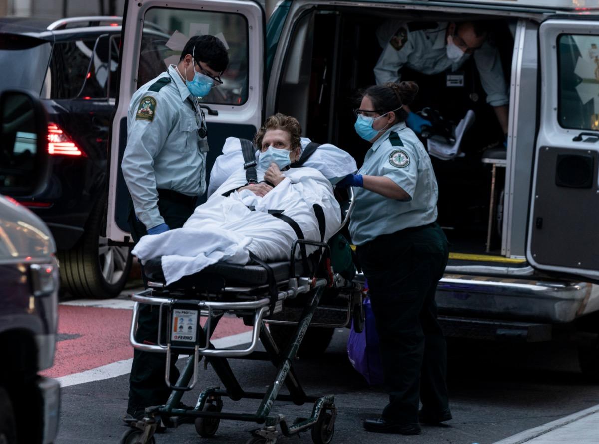 Patient in ambulance.