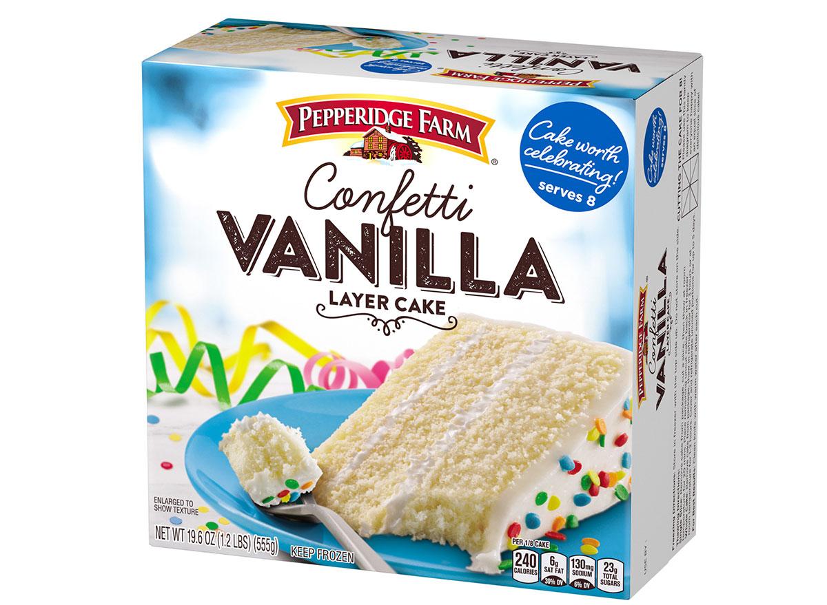 pepperidge farm frozen confetti layer cake