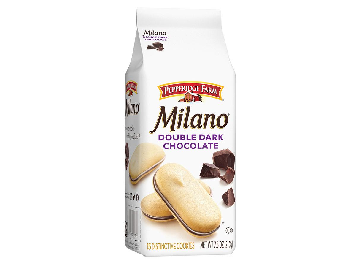 pepperidge farm milano double dark chocolate