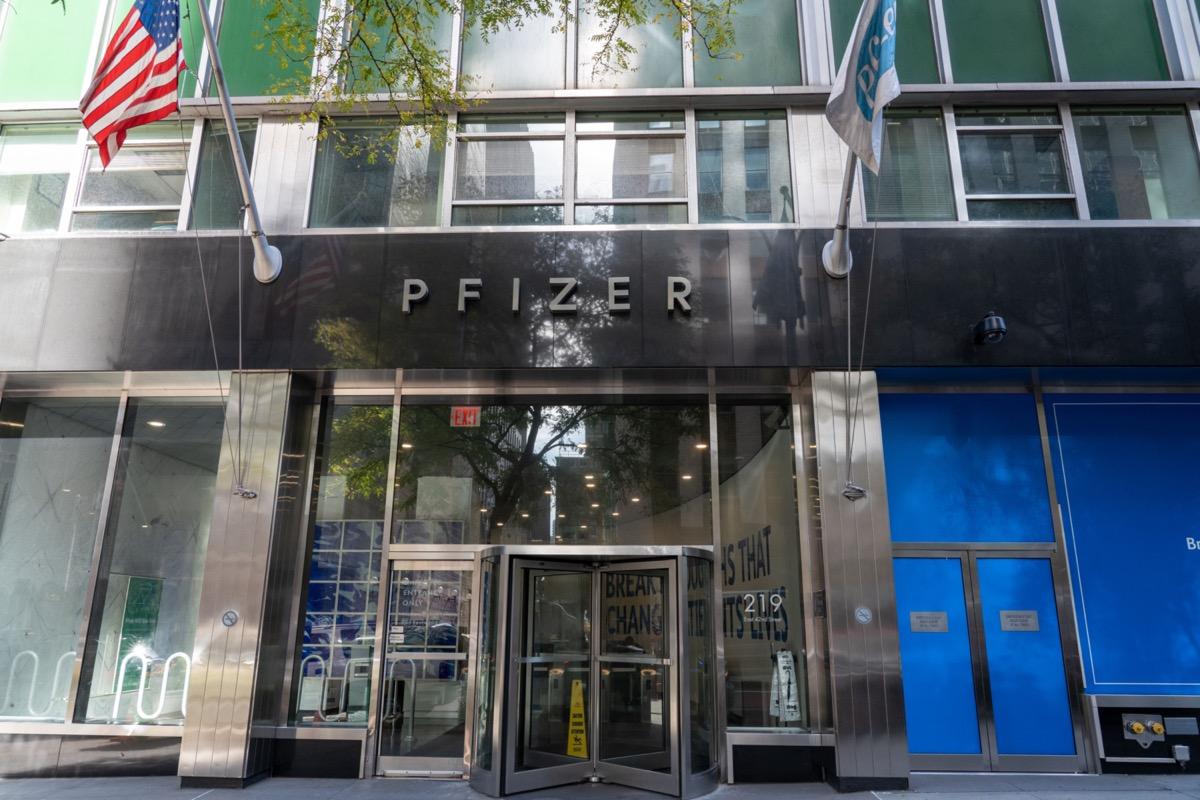 Pfizer Inc. headquarters.