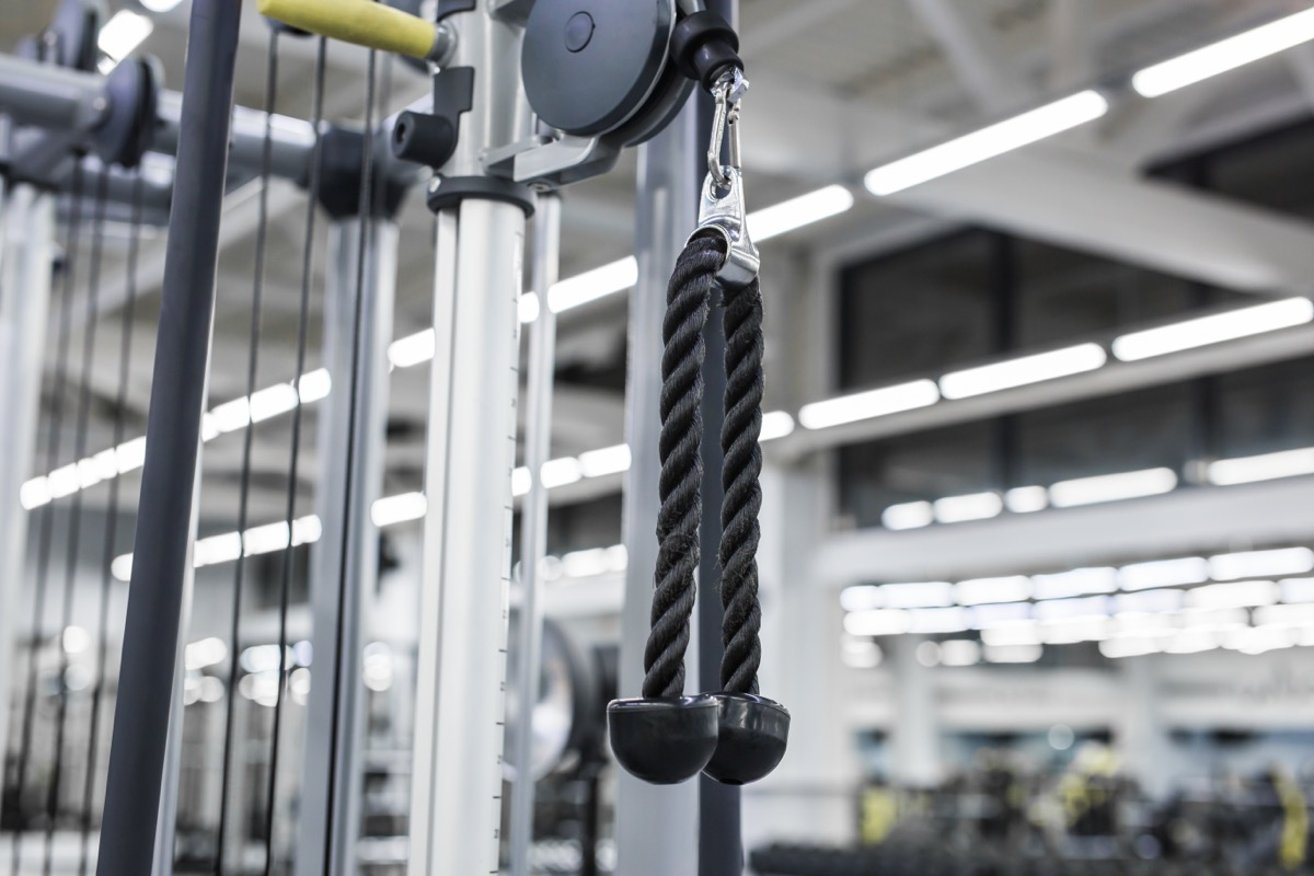pulley machine in gym