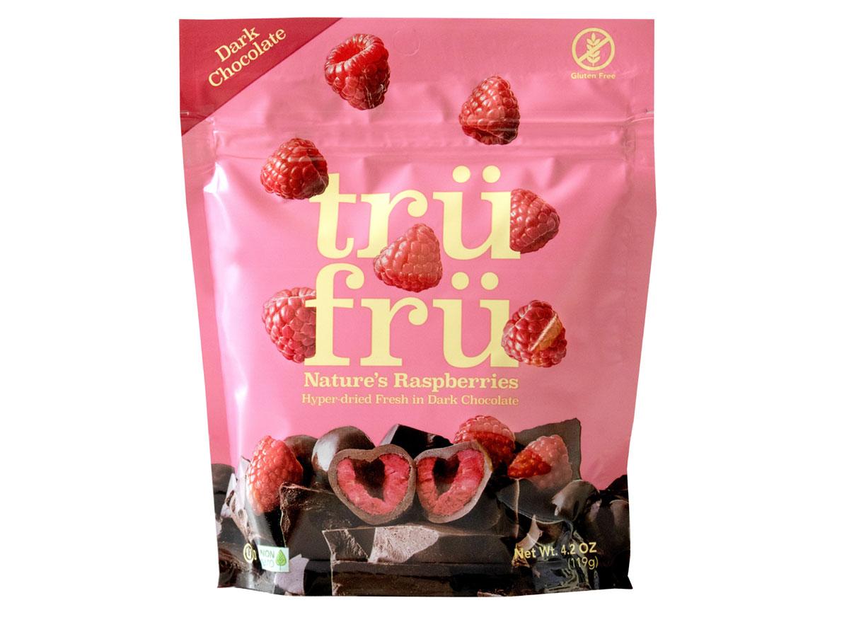 tru fru raspberries dark chocolate