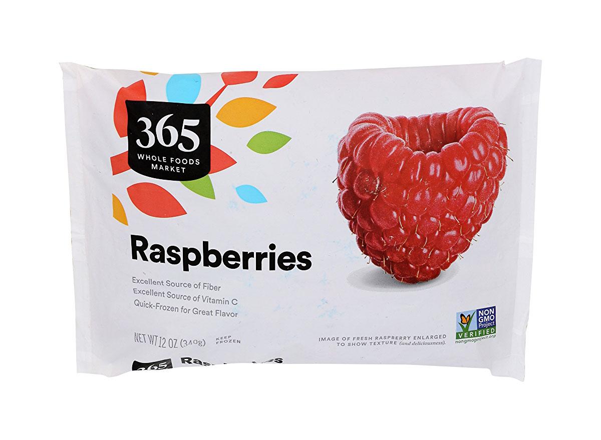 whole foods frozen raspberries