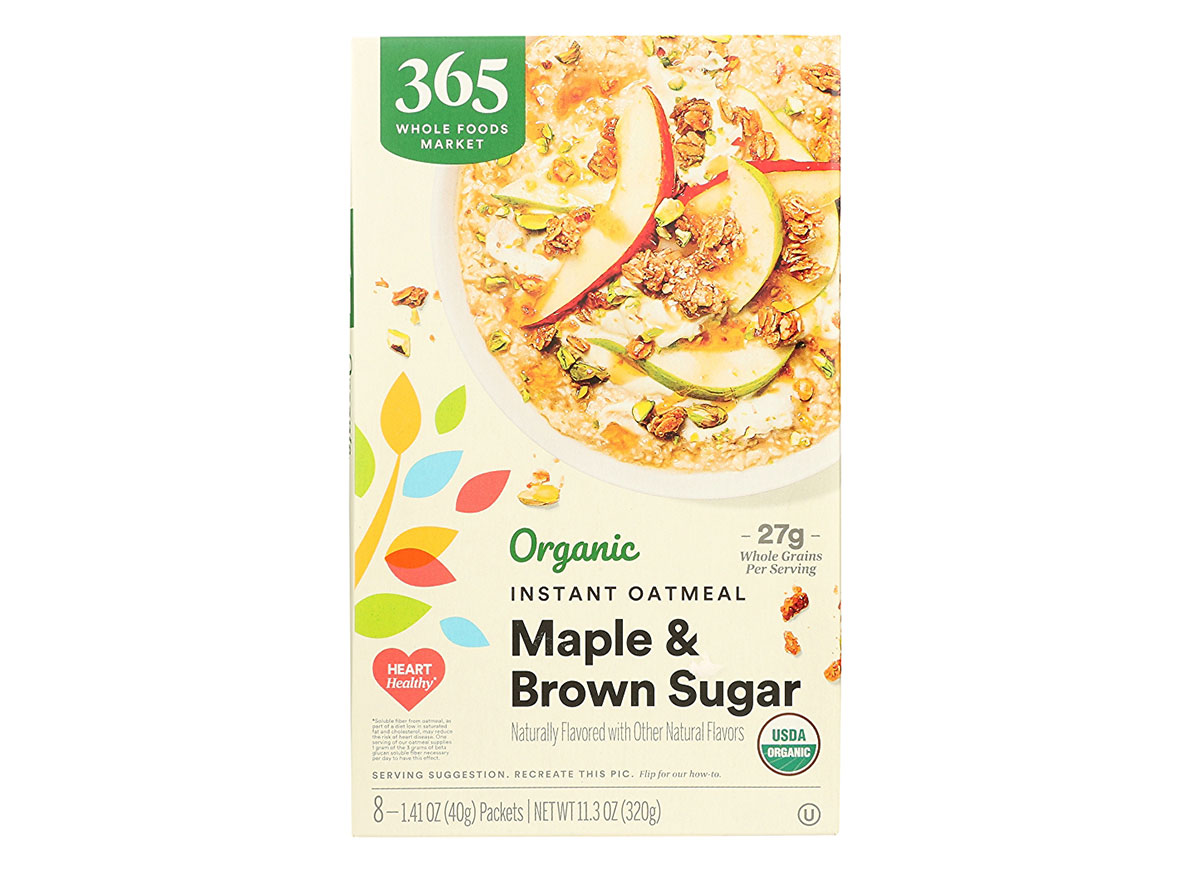whole foods maple brown sugar oatmeal
