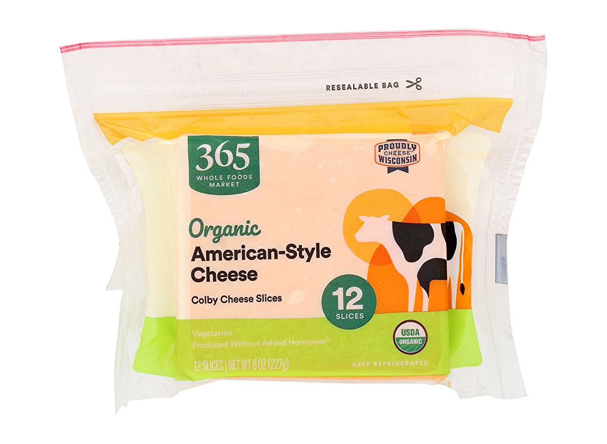 whole foods organic american cheese