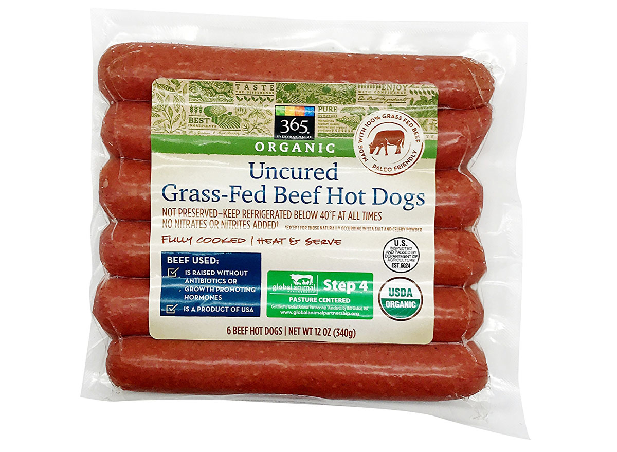 whole foods organic grass fed hot dogs
