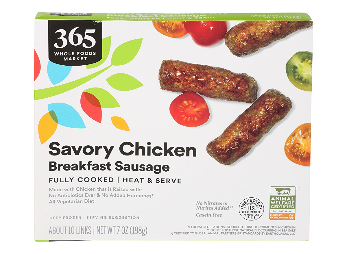 whole foods savory chicken breakfast sausage