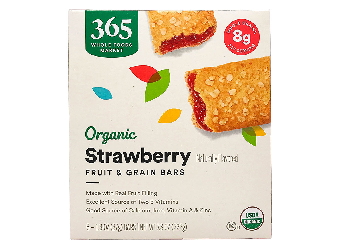 whole foods strawberry cereal bars