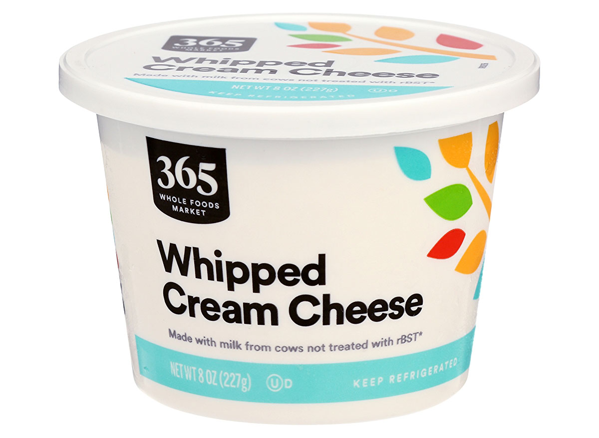 whole foods whipped cream cheese