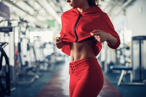 woman with a strong core