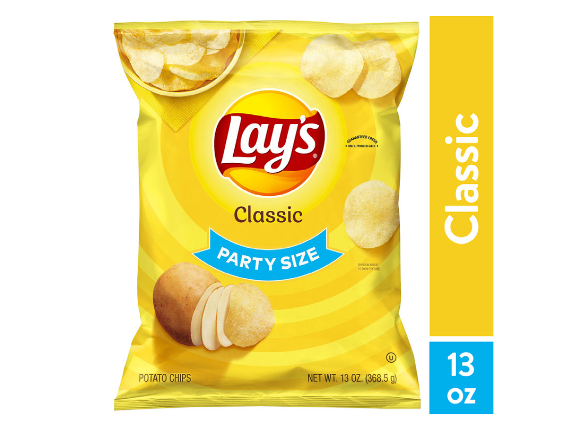 Lay's Classic Potato Chips, Party Size Walmart