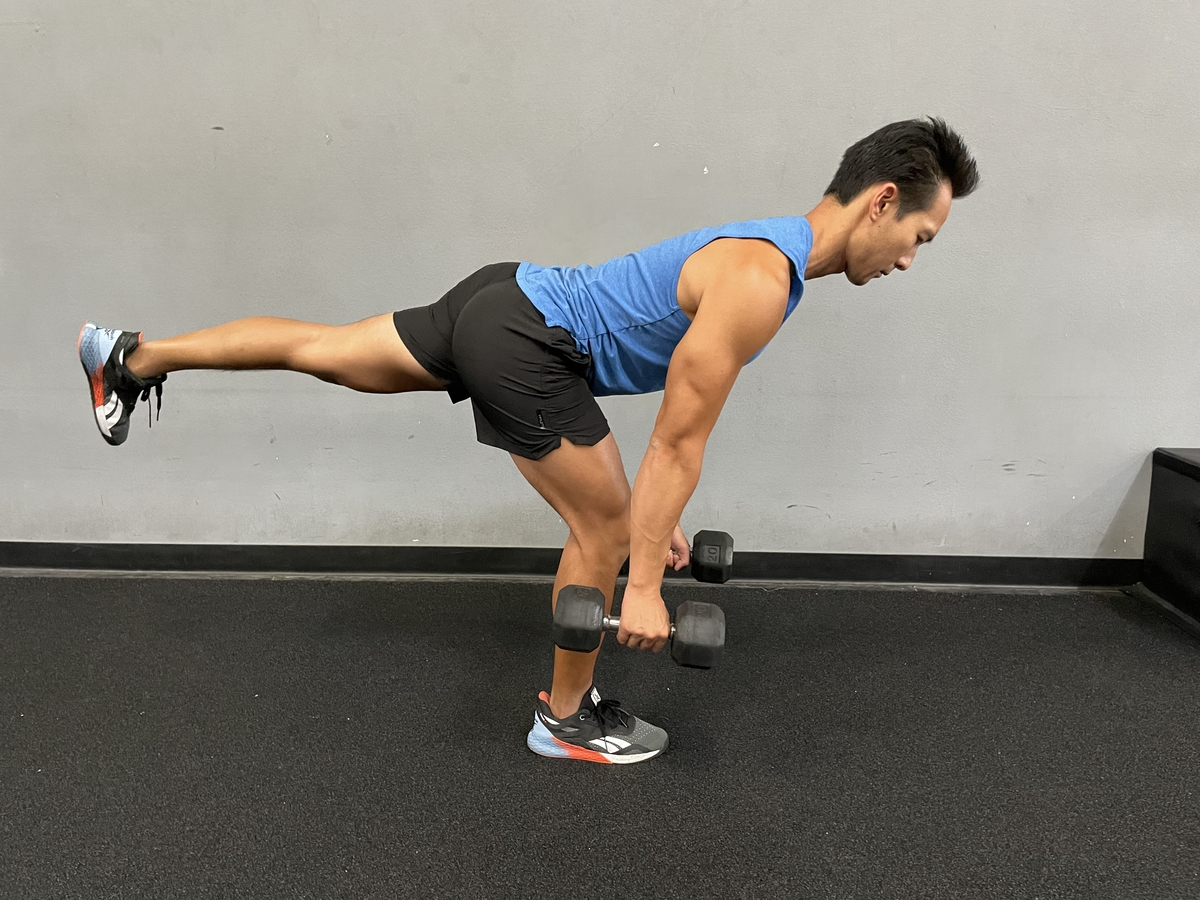 dumbell reverse lunge
