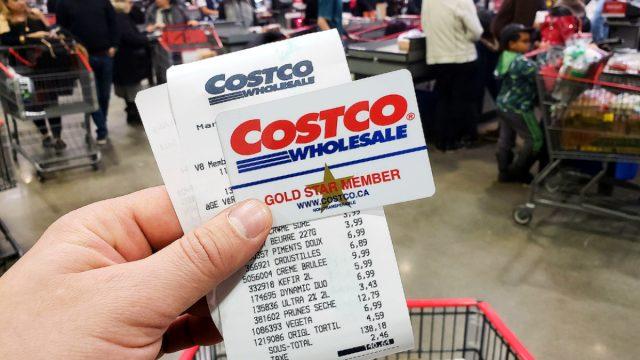 Costco receipt