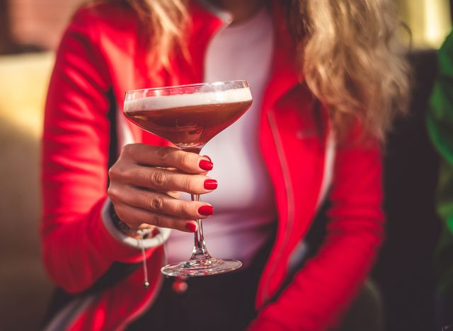 holding cocktail