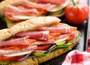 italian hero club sandwich