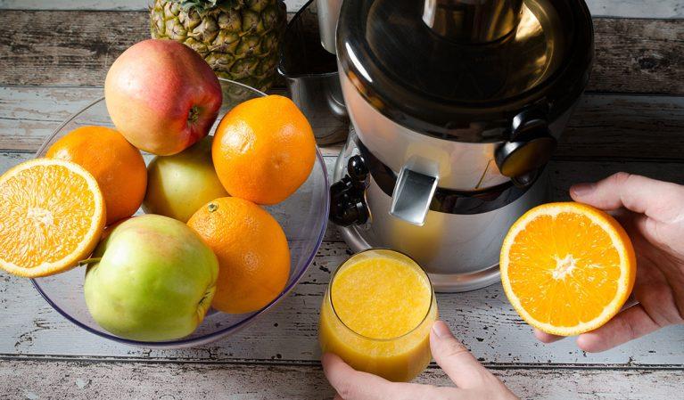 making juice