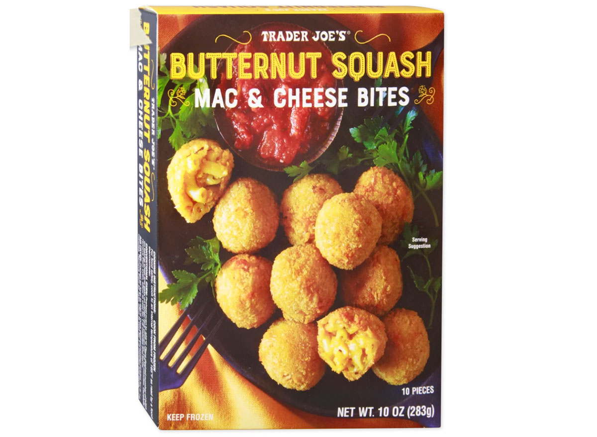 trader joes butternut squash mac and cheese bites