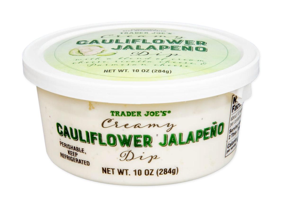 trader joes creamy cauliflower jalapano dip
