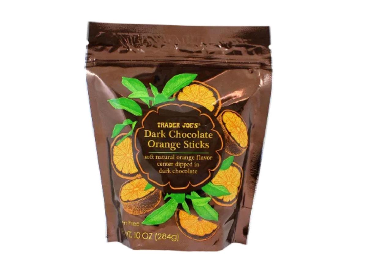 trader joes dark chocolate orange sticks