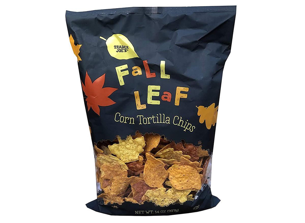trader joes fall leaf tortilla chips
