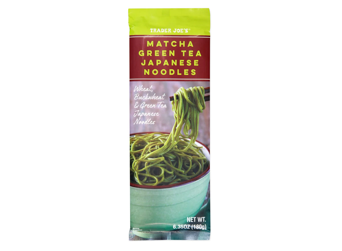 trader joes matcha green tea japanese noodles