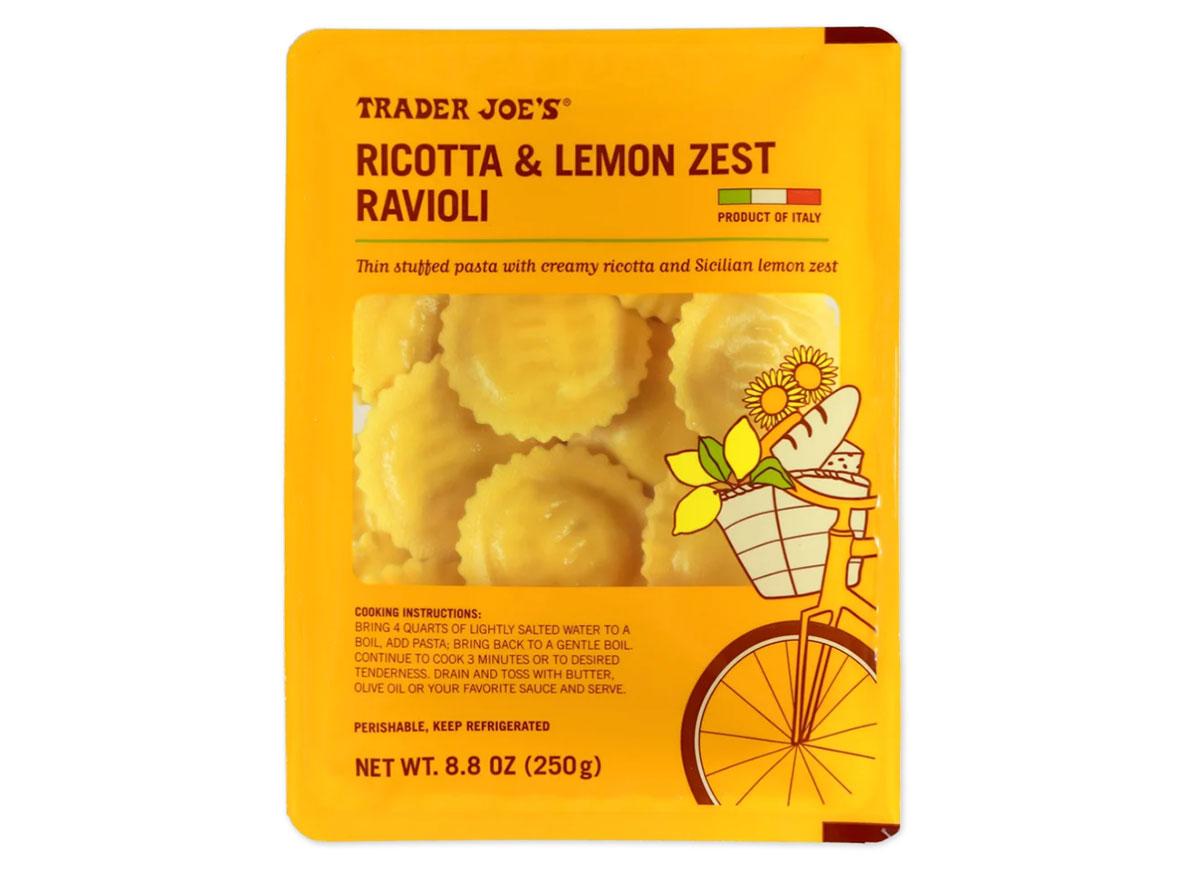 trader joes ricotta lemon zest ravioli