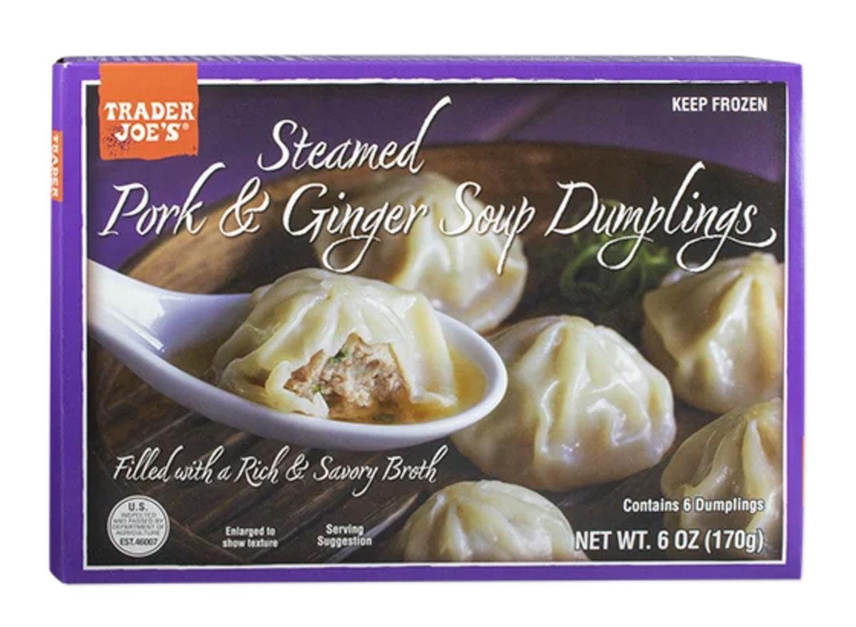 trader joes steamed pork ginger soup dumplings
