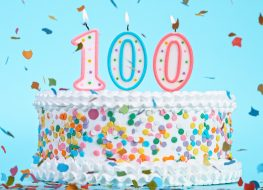 100 year old birthday centenarain