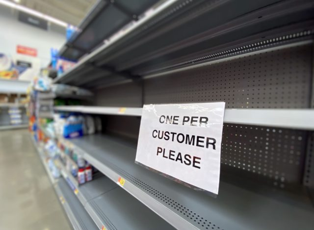 Walmart toilet paper shortage
