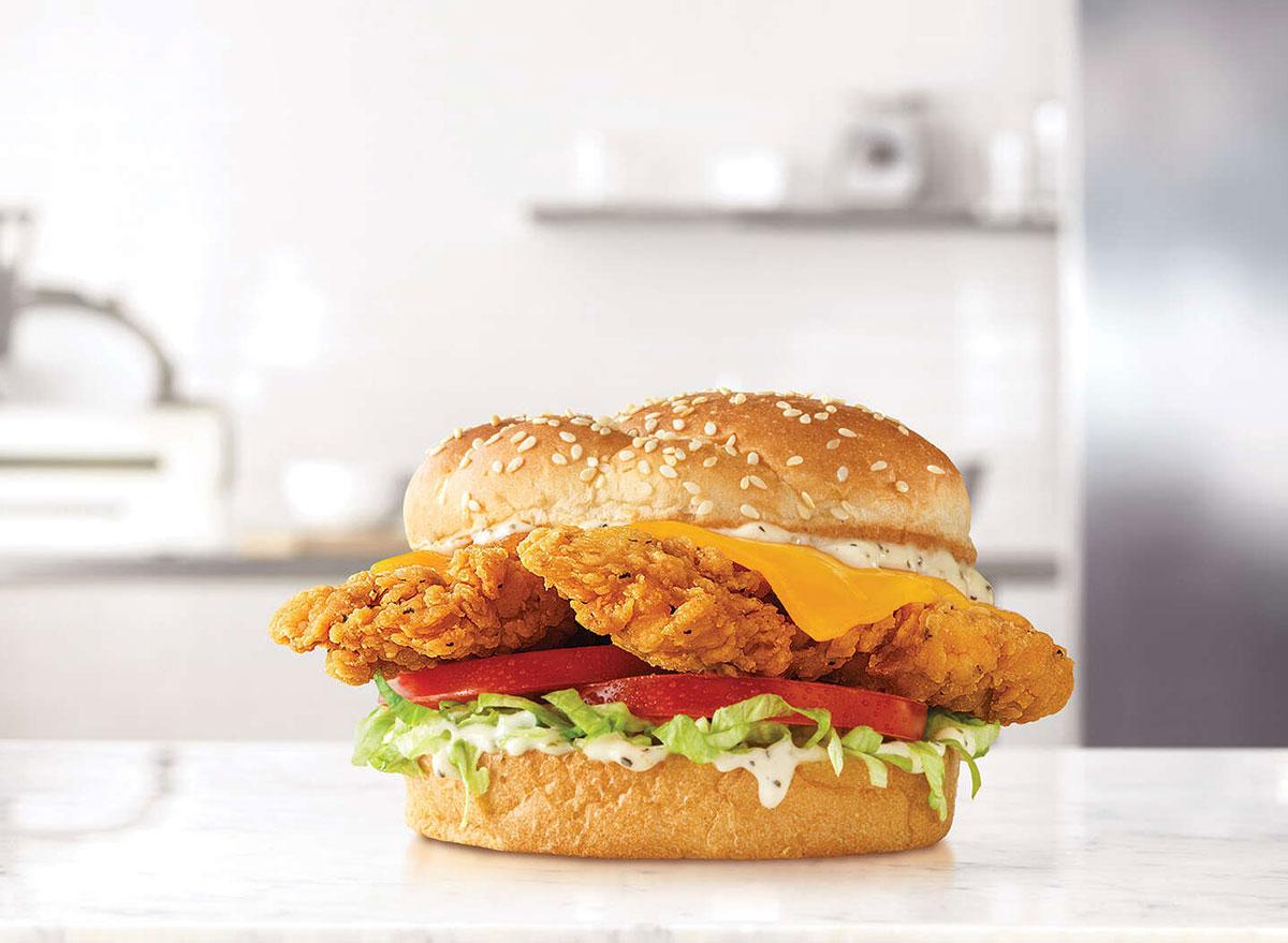 arbys chicken cheddar ranch sandwich