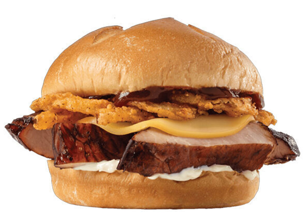 arbys real country style rib sandwich