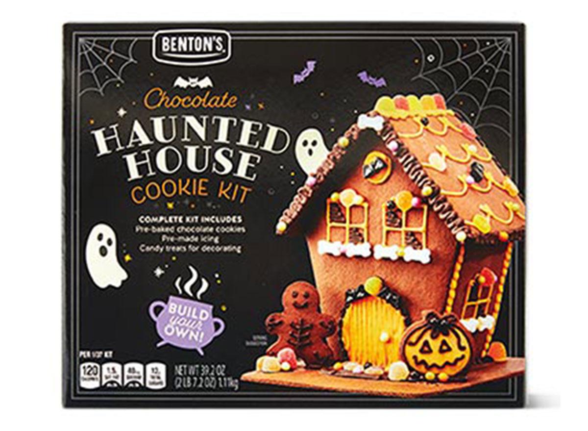 ALDI bentons chocolate haunted house cookie kit
