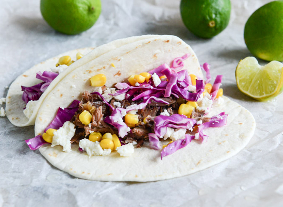 brisket tacos shredded cabbage
