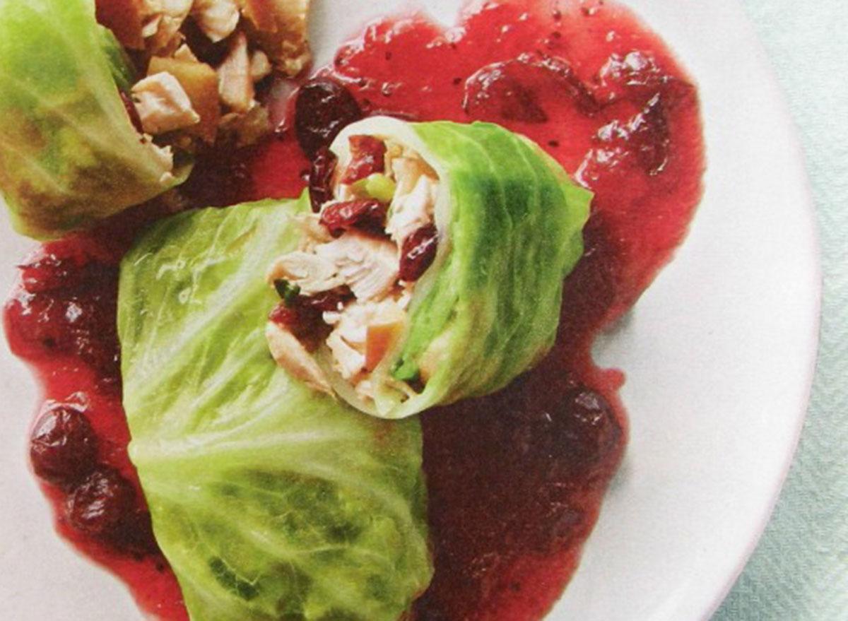 cabbage wraps cranberry chicken