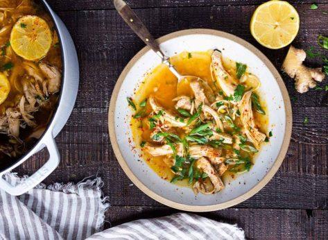 chicken soup lemon ginger