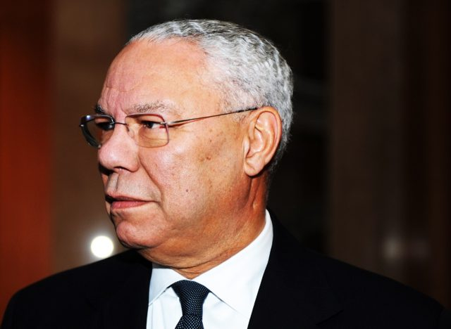 American former Secretary of State Colin Powell
