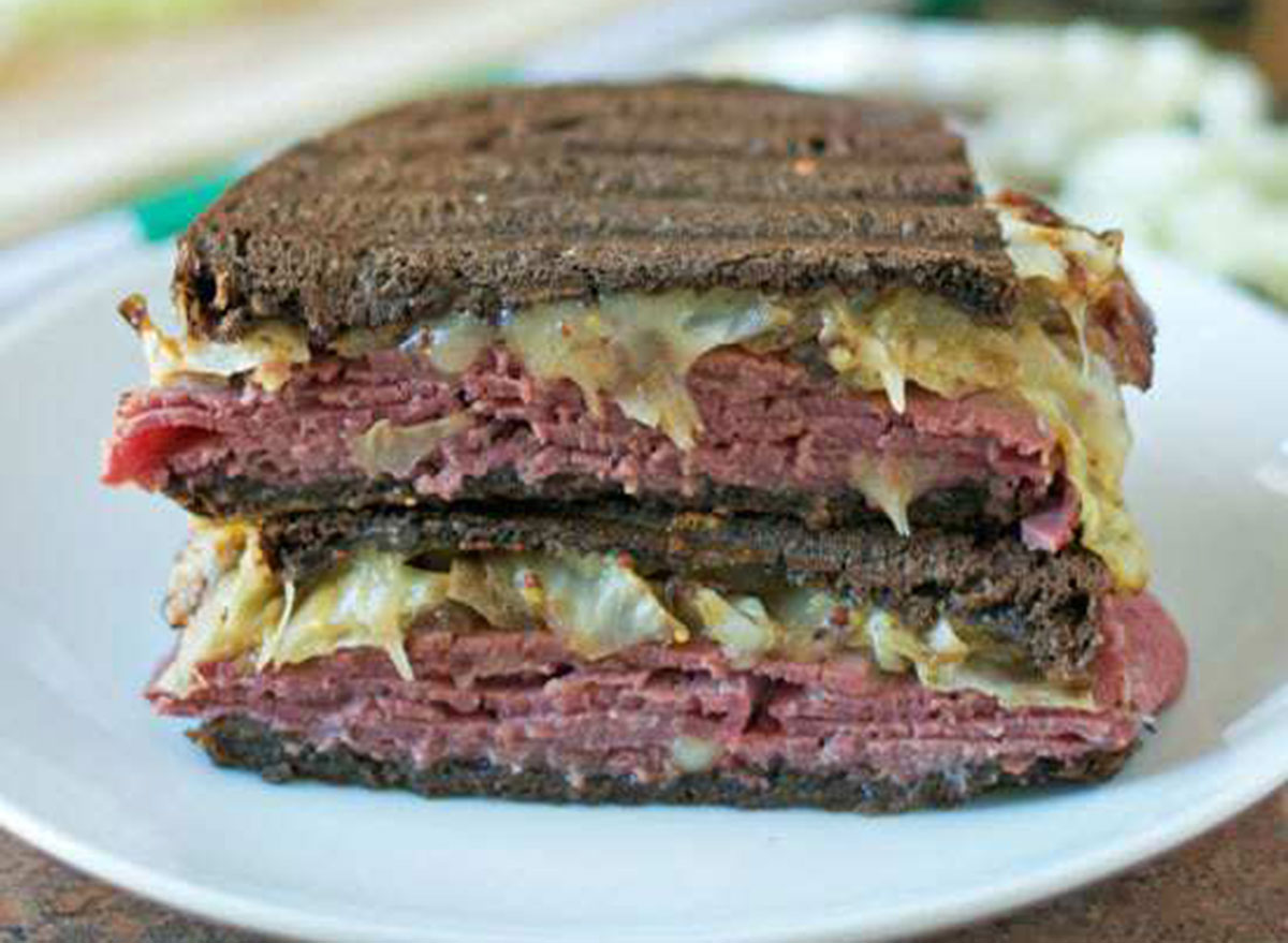 corned beef cabbage grilled cheese