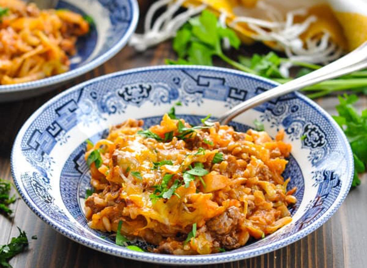 five ingredient cabbage casserole