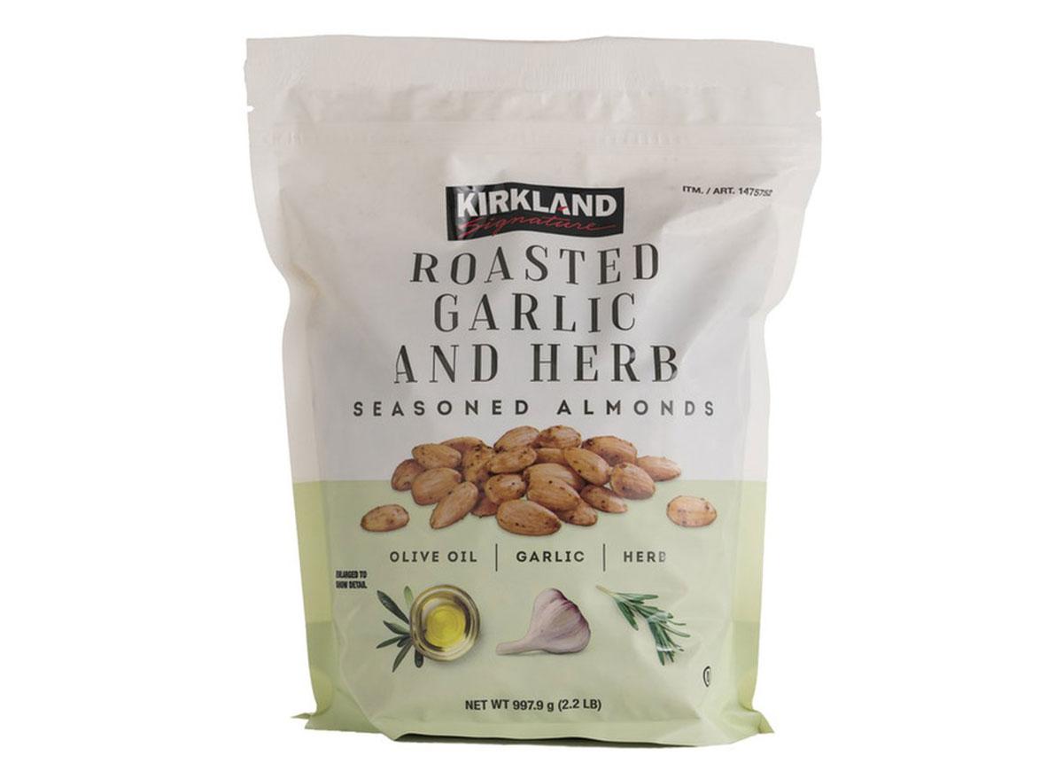 kirkland roasted garlic almonds