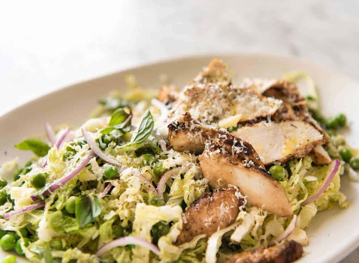lemon parmesan cabbage salad