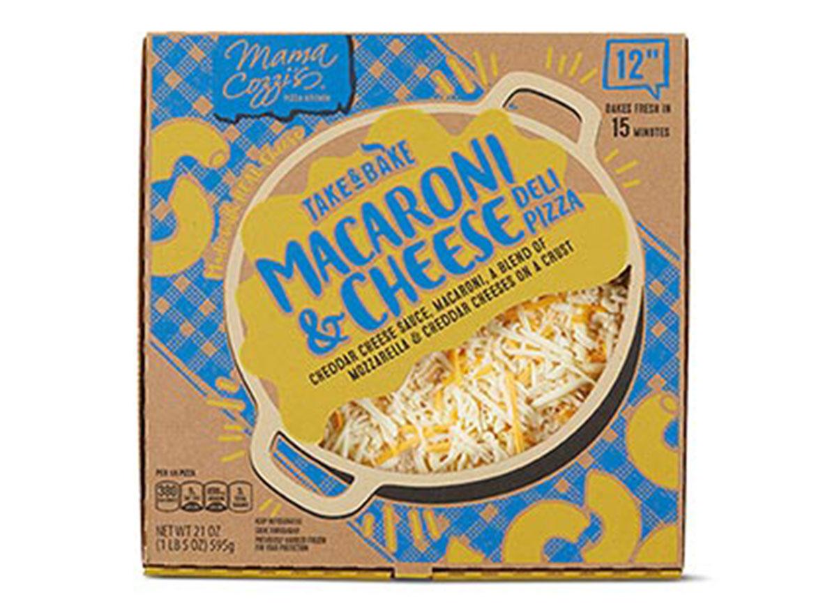 ALDI macaroni and cheese deli pizza