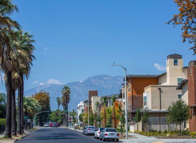 ontario california street scene during the day