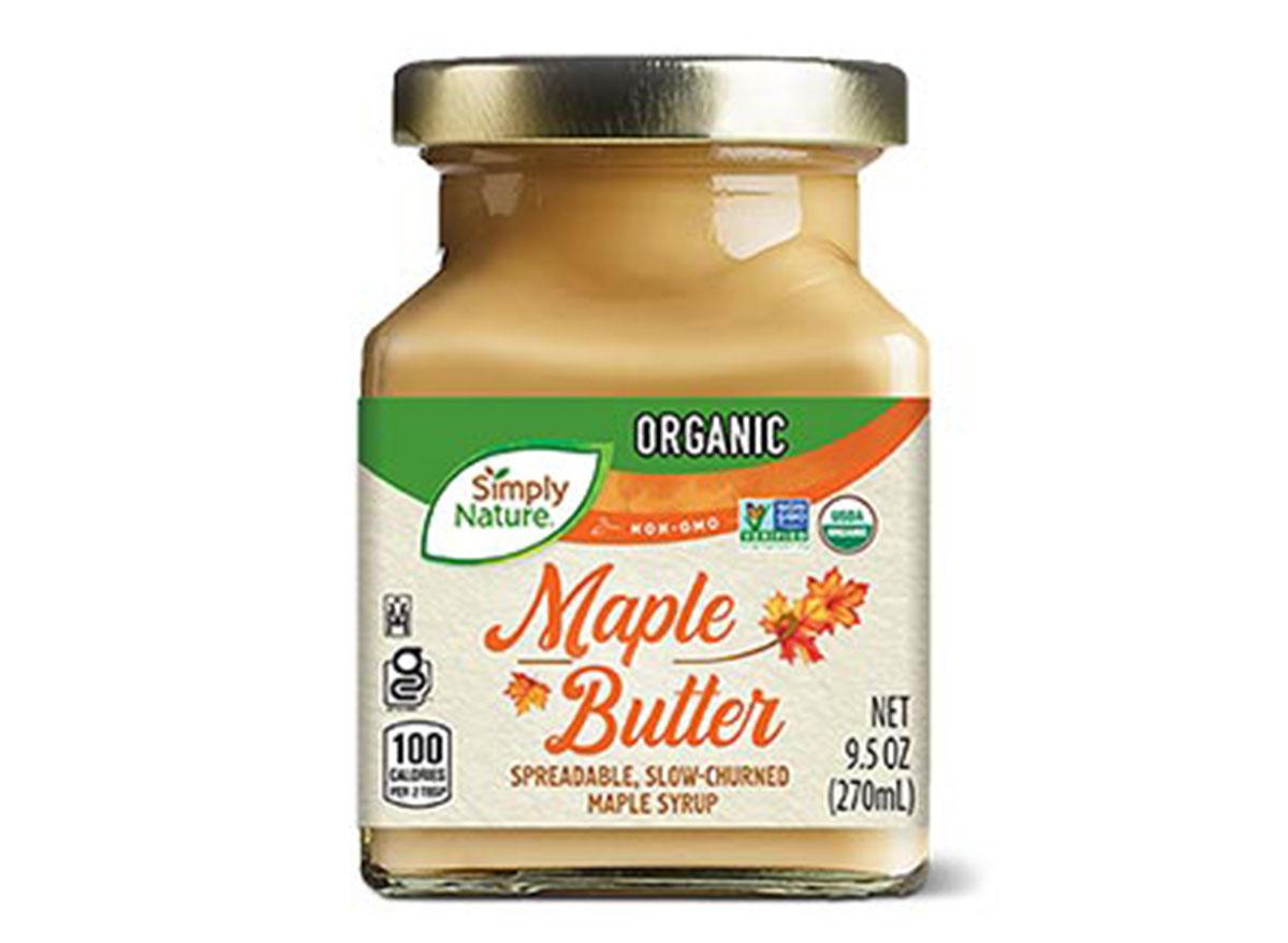 ALDI simply nature maple butter